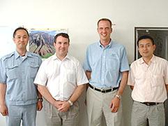 2008年6月 CIAIグループ Guy Hollamd 様、 王 玉能 様が弊社の視察に来られました。