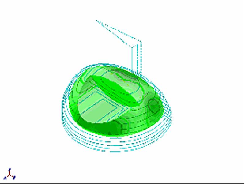 3次元CAD ゴルフヘッド 設計図 木型