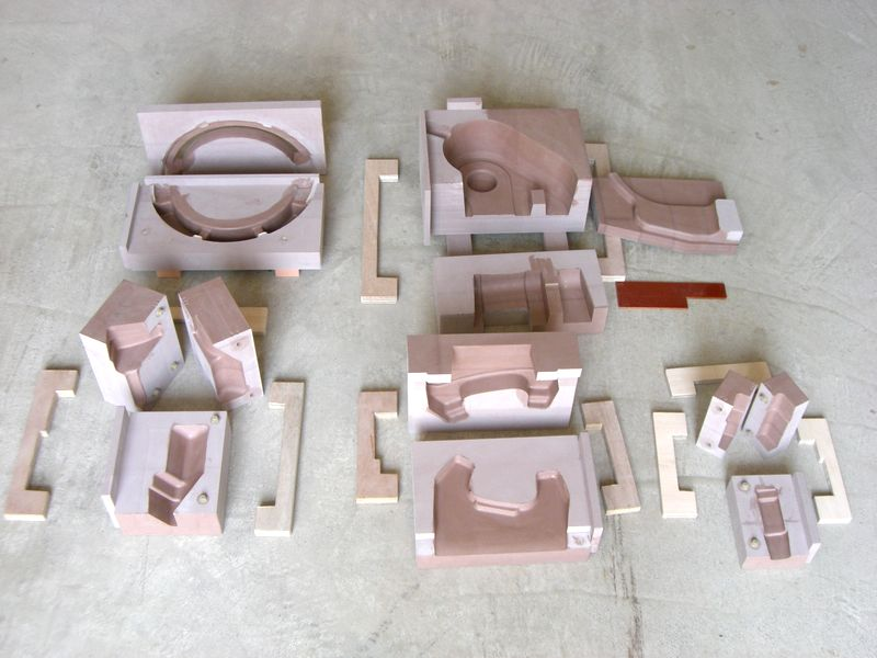 鋳造用木型モデル中子