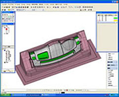 SPACE-E/CADにて設計工程 5軸加工・マスターモデル